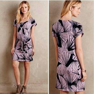 MAEVE Anthropologie Casieu Side Tie Purple Dress